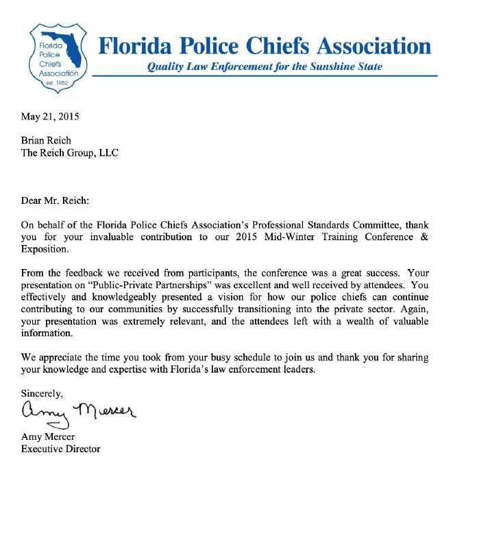 my transition advisors 2nd career HQ testimonials roles expert Florida Police Chiefs Association